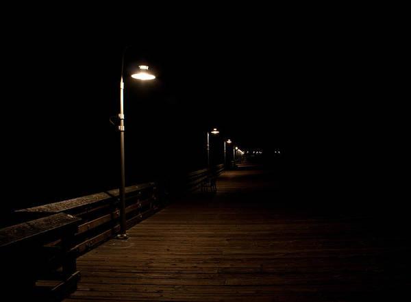 Ventura Art Print featuring the photograph Ventura Pier At Night by John Daly