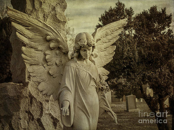 Angel Art Print featuring the photograph Watch Over Me by Terry Rowe