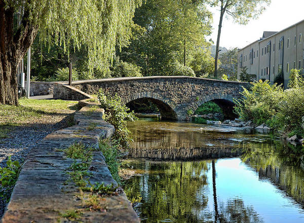 Quaker Town Print featuring the photograph Weeping Willow Bridge by Robert Culver