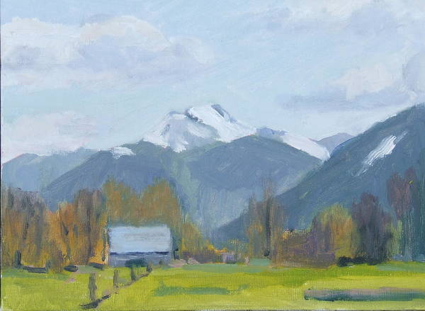 Art Print featuring the painting Whitehorse Mountain East Arlington by Raymond Kaler