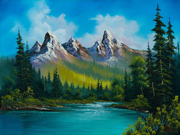 Landscape Art Print featuring the painting Wild Country by Chris Steele