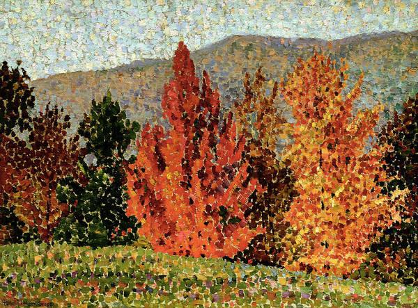Autumn Landscape Art Print featuring the painting Autumn Landscape by Henri-Edmond Cross