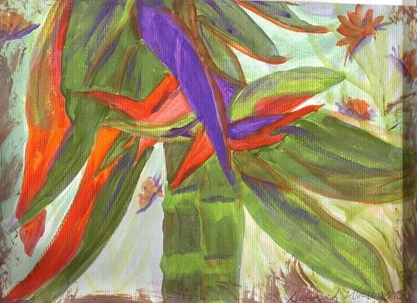 Watercolor Art Print featuring the photograph Bird Of Paradise by Debbie Wassmann
