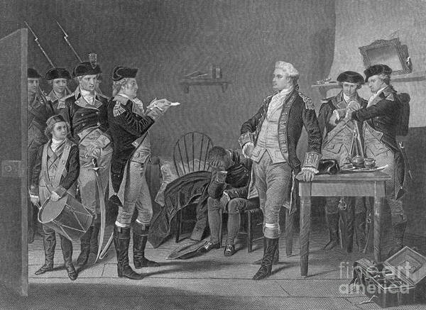 Illustration Art Print featuring the photograph Death Warrant Of Major John Andre, 1780 by Photo Researchers