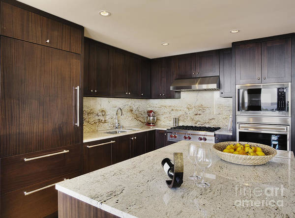 Affluence Art Print featuring the photograph Upscale Kitchen Interior by Andersen Ross