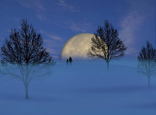 Moon Art Print featuring the photograph 1910 by Peter Holme III