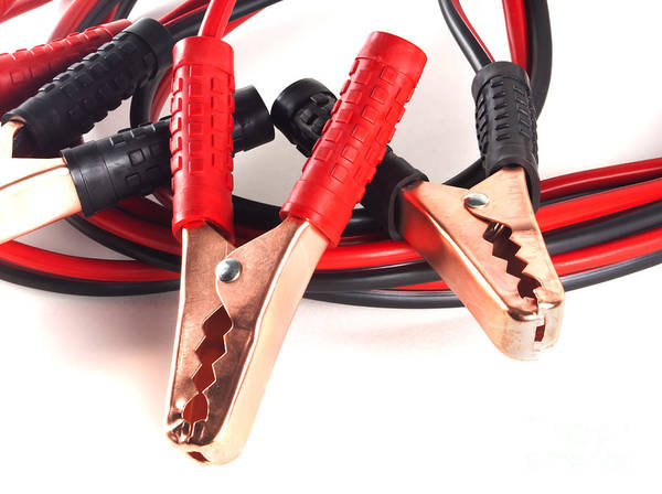 Jumper Cables Art Print featuring the photograph Jumper Cables by Blink Images