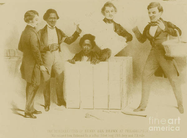 Henry Brown Art Print featuring the photograph Resurrection Of Henry Box Brown by Photo Researchers