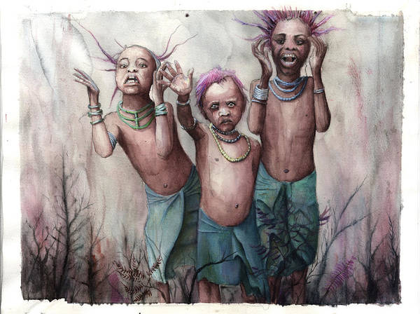 Child Art Print featuring the painting 3 by Bjorn Eek