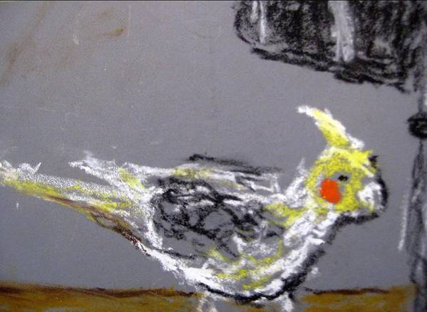 Bird Art Print featuring the painting Untitled by Iris Gill