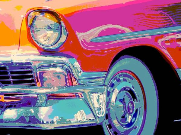 Classic 56 Chevy Wagon Art Print featuring the photograph 56 Pumpkin by Chuck Re