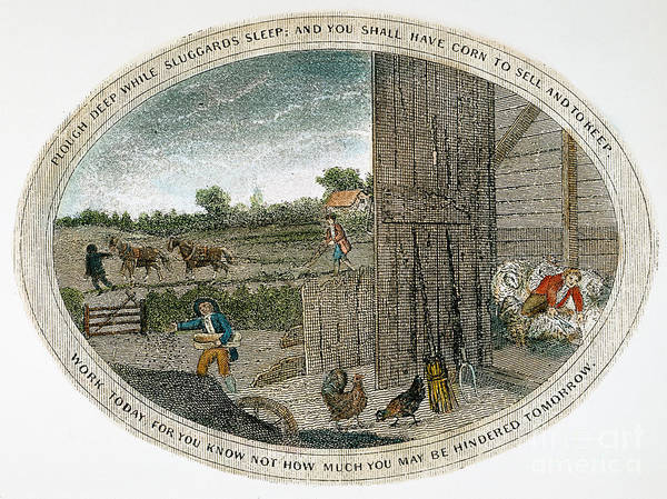 1800 Art Print featuring the photograph Poor Richard Illustrated by Granger