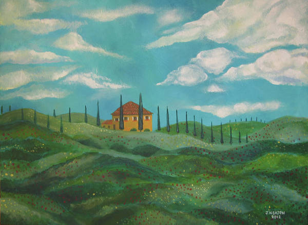 Tuscany Art Print featuring the painting A Day In Tuscany by John Keaton