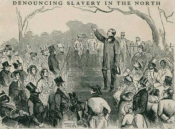 History Art Print featuring the photograph Abolitionist Wendell Phillips Speaking by Everett