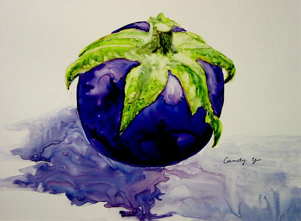 Plant Art Print featuring the painting An Attractive Round by Candy Yu