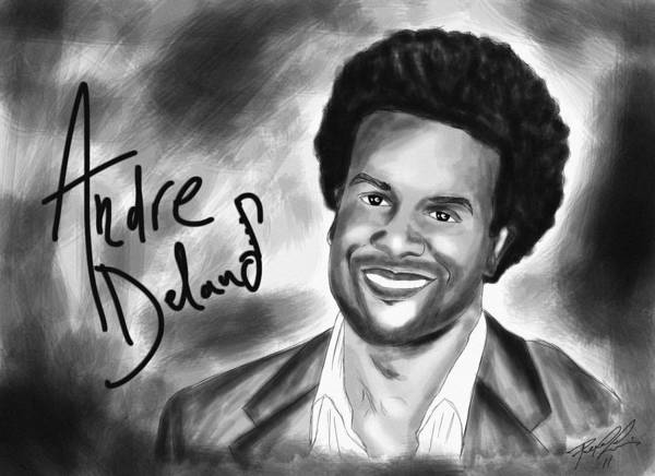 Andre Delano Art Print featuring the drawing Andre Delano by Kenal Louis