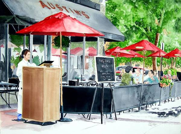 Fort Collins Art Print featuring the painting Austin's by Tom Riggs