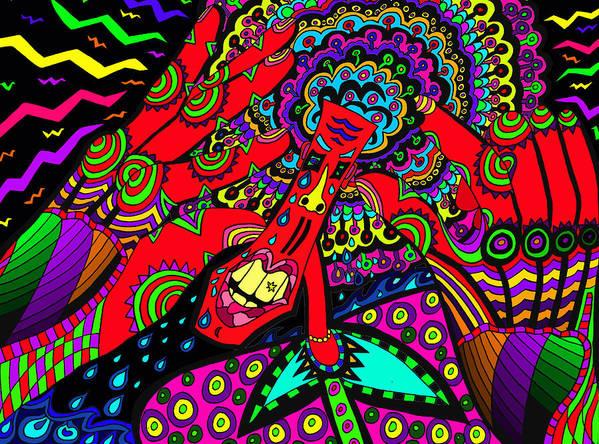 Sore Head Art Print featuring the painting Bad Day - My Brain Is Sore by Karen Elzinga