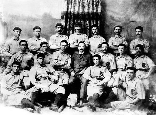 1880s Portaits Art Print featuring the photograph Baltimore Orioles, Champion Baseball by Everett