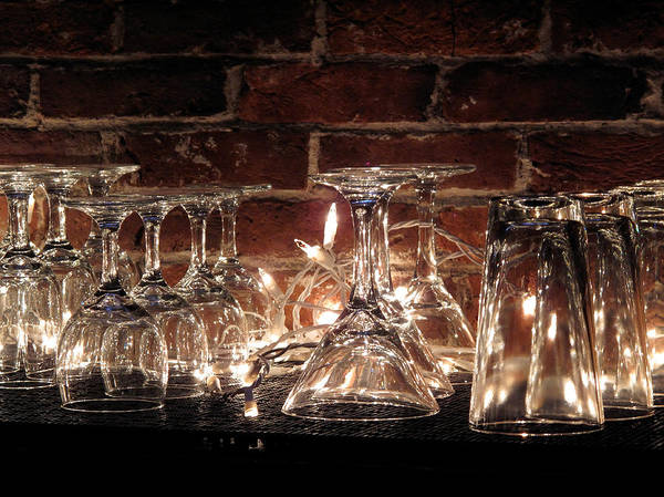Bar Art Print featuring the photograph Bar Glasses by Marty Allen