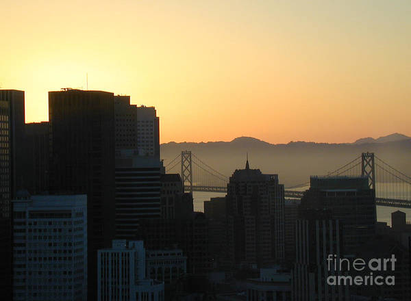 Buildings Art Print featuring the photograph Bay Bridge by Peggy Starks