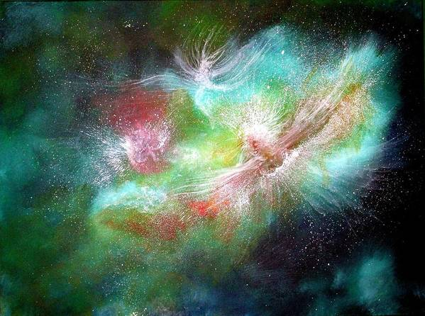 Angels Art Print featuring the painting Birth Of Angels by Naomi Walker