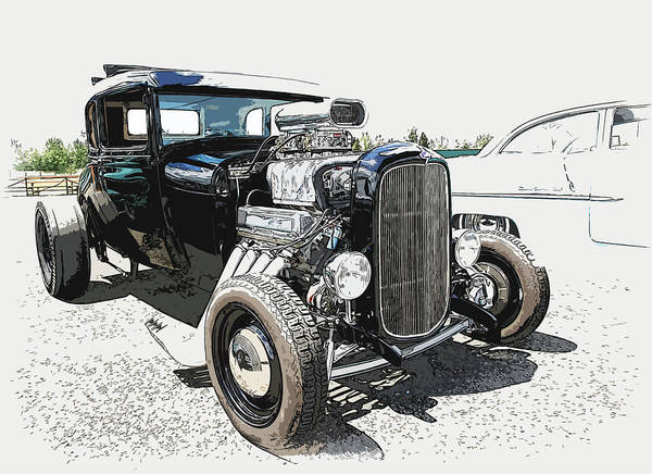 Hot Rod Art Print featuring the photograph Blown Coupe by Steve McKinzie
