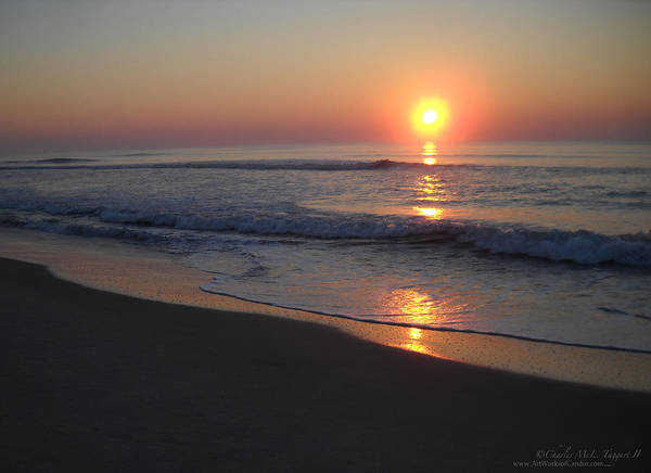 Sunrise Art Print featuring the photograph Chincoteague Island Sunrise No.2 by Charles Taggart