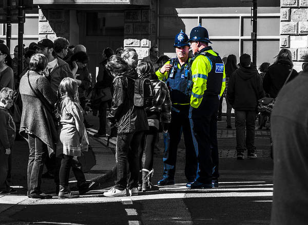 Police Art Print featuring the photograph Coppers by Paul Howarth
