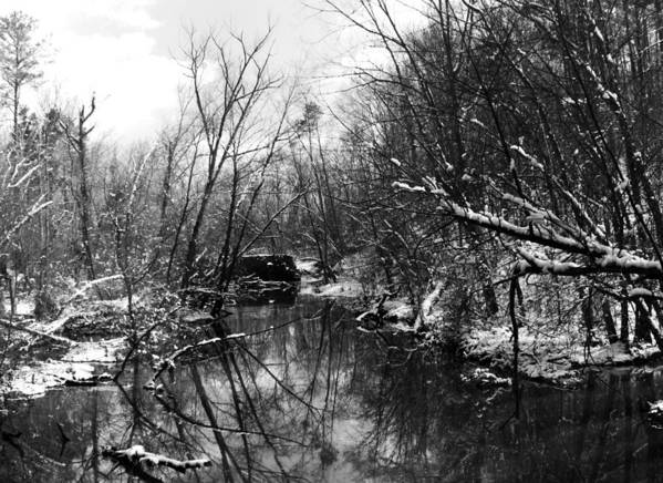 Winter Art Print featuring the photograph Dam In Winter by Christopher McPhail