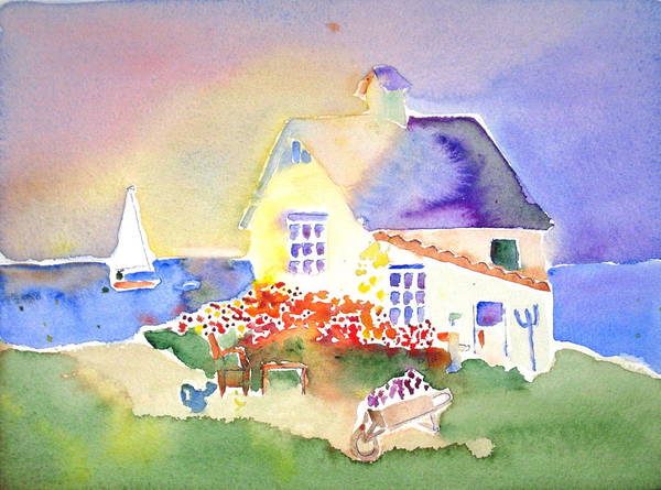 Cottage Art Print featuring the painting Daydream Garden by Brenda Bergen