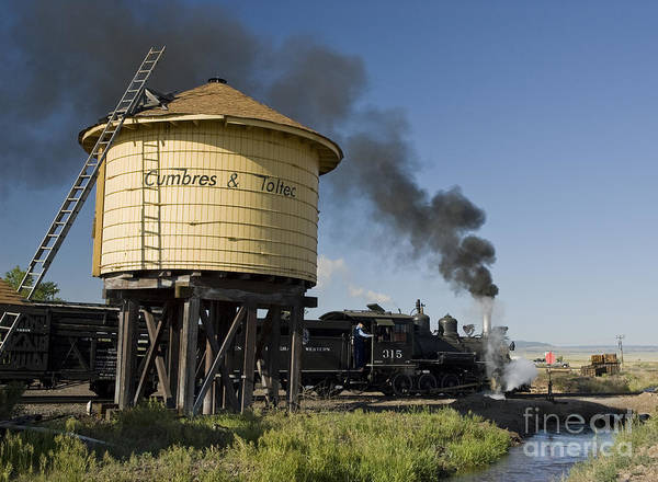 Cumbres & Toltec Art Print featuring the photograph Drgw 315 In Antonito by Tim Mulina