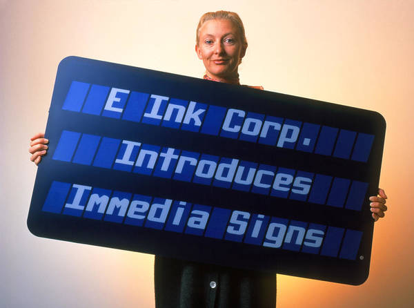 Printing Art Print featuring the photograph Electronic Ink Sign by Volker Steger