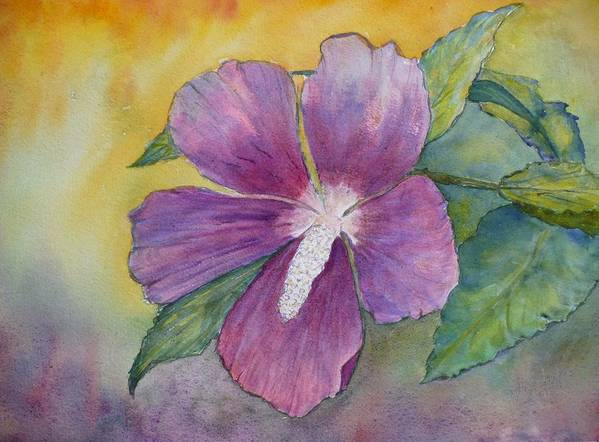 Althea Art Print featuring the painting End Of Summer by Stella Schaefer