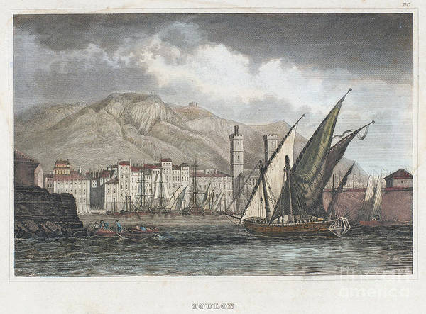 1850 Art Print featuring the photograph France: Toulon, C1850 by Granger