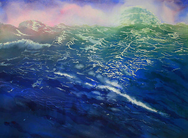 Seascape Art Print featuring the painting From Sea To Shining Sea by Carol Sprovtsoff