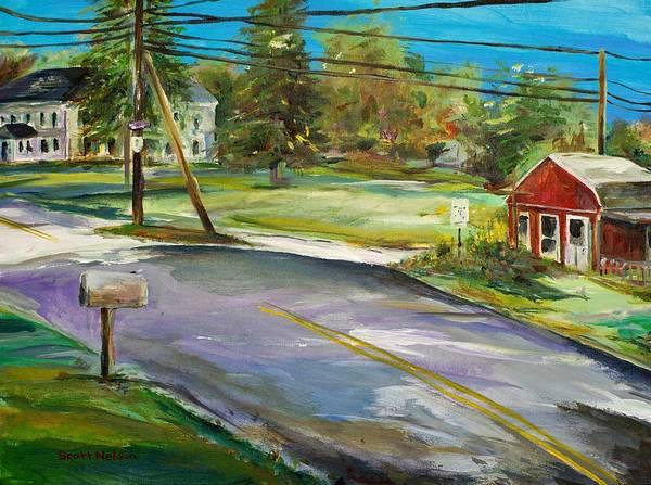 Hawk Hill Art Print featuring the painting Hawk Hill by Scott Nelson
