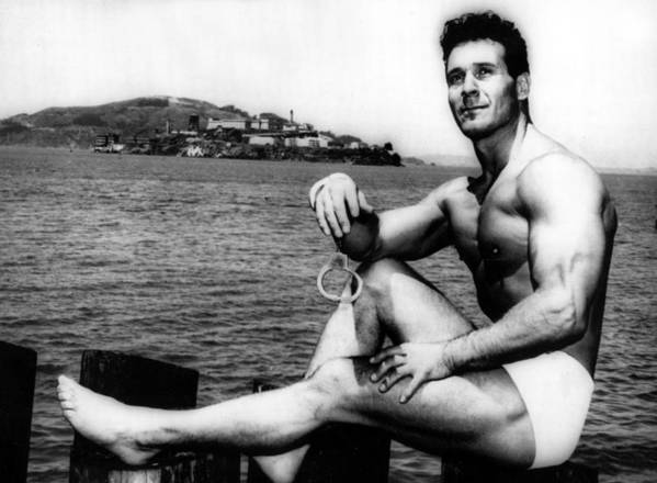 1950s Print featuring the photograph Jack Lalanne Before Handcuffed Swim by Everett