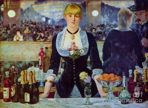 Pd Art Print featuring the painting Le Bar Des Folies-bergere by Pg Reproductions
