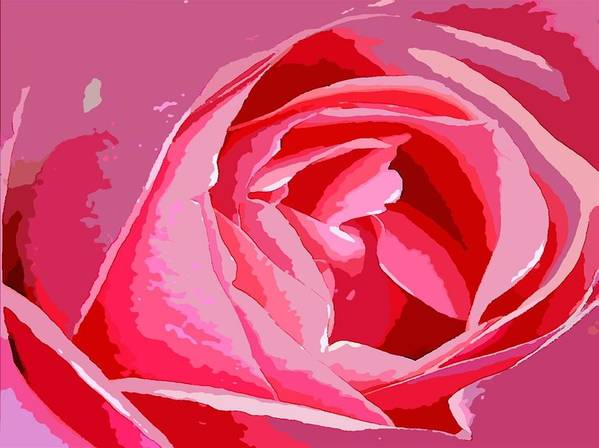 Rose Art Print featuring the digital art Love by Carrie OBrien Sibley