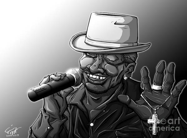 Tuan Art Print featuring the drawing Old School Brother by Tuan HollaBack