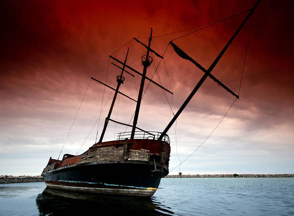 Pirate Art Print featuring the photograph Pirate Ship 2 by Cale Best