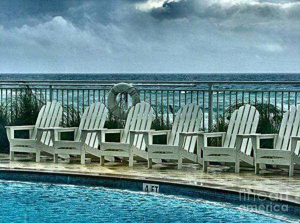 Gulf Of Mexico Art Print featuring the photograph Poolside With A View by Julie Dant