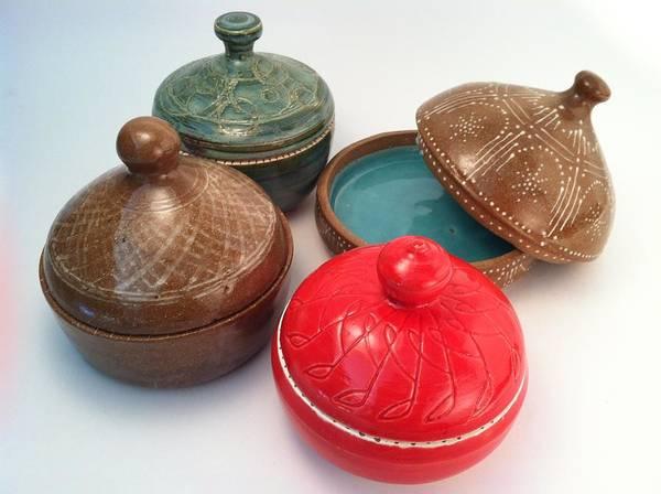 Art Art Print featuring the ceramic art Prayer Pots by Carolyn Coffey Wallace