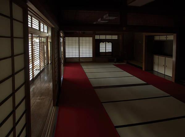 Zen Print featuring the photograph Quietude Of Zen Meditation Room - Kyoto Japan by Daniel Hagerman