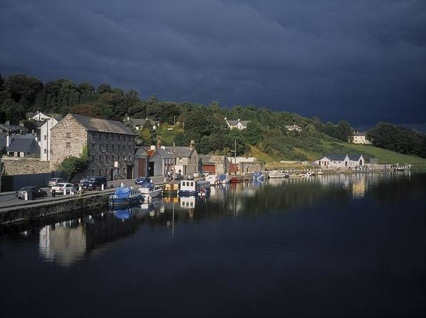 Bay Art Print featuring the photograph River Barrow, Graiguenamanagh, Co by The Irish Image Collection