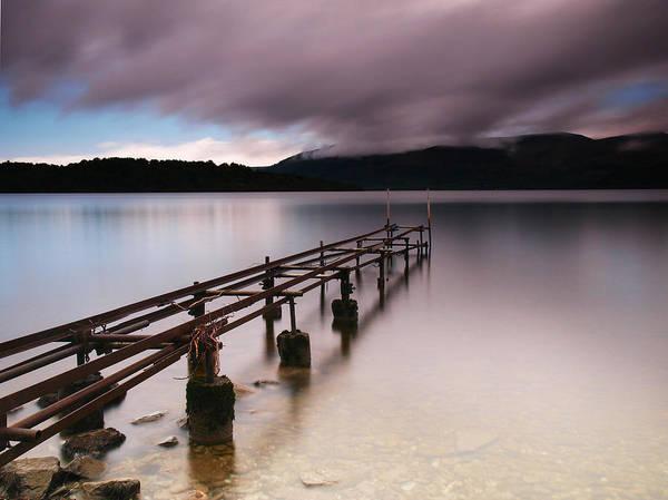 Scotland Print featuring the photograph Rotten Pier by Nina Papiorek