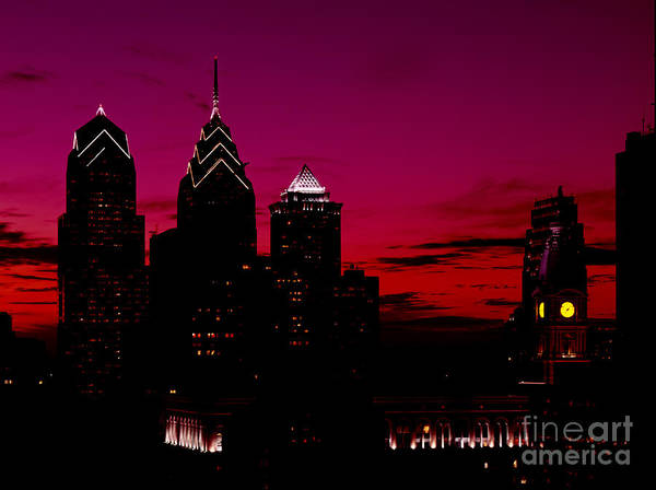 Skylline Of Philadelphia Pennsylvania Art Print featuring the photograph Skylline Of Philadelphia Pennsylvania by Heinz G Mielke