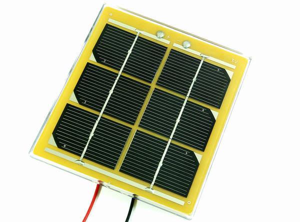 Solar Cell Art Print featuring the photograph Solar Cell by Friedrich Saurer