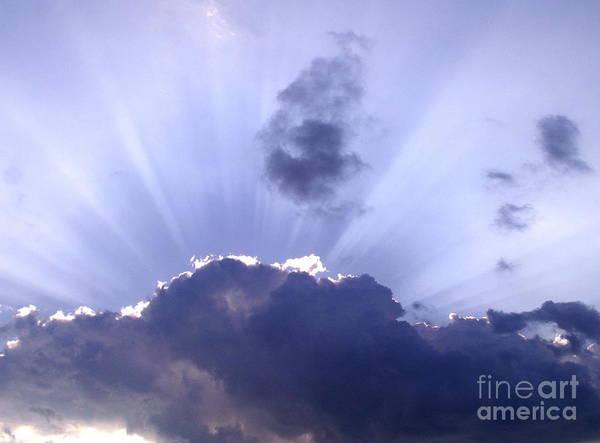 Clouds Art Print featuring the photograph Sunburst by Jim Caudill